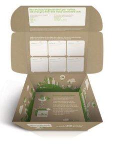 Cajas de carton impresas con mensaje interior